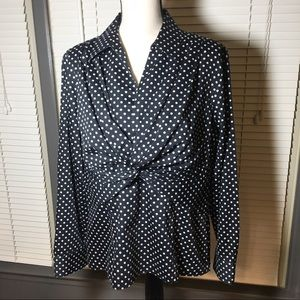 Jones New York XL polka dot twist from top EUC